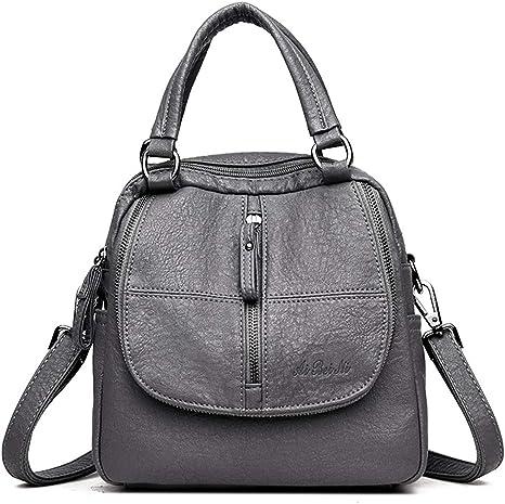 Jywmsc Damen Vintage Rucksack Weiches Pu Leder Handtasche High End Doppelschicht Multifunktion Reise Schulter Tasche Amazon De Koffer Rucksacke Taschen
