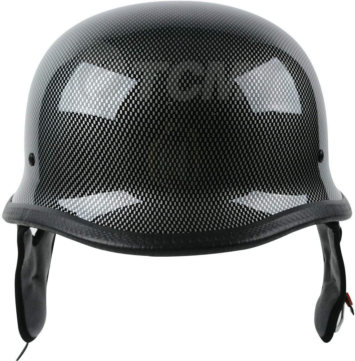 SLMOTO M Motorcycle Half Face German Helmet Head Protect Fiber DOT For Cruiser
