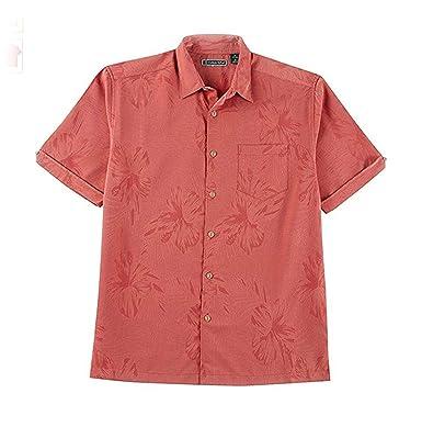 d8caa7936c Cubavera Men s Short Sleeve Big   Tall Tonal Floral Jacquard Woven Shirt  with Pocket at Amazon Men s Clothing store