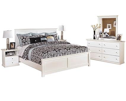 Amazon.com: Ashley Bostwick Shoals 5 PC Queen Panel Bedroom ...