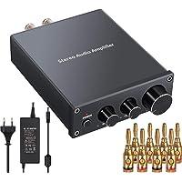 Amplificador Audio Estéreo 2 Canales Mini Hi-Fi Amplificador de Potencia Amp Digital Integrado Clase D con Control de…
