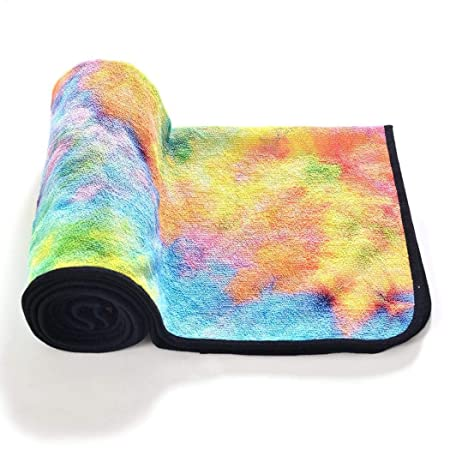 Qiopes - Toalla de Yoga portátil Plegable Antideslizante de ...