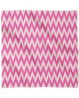 Neon Pink Chevron Satin Style Scarf