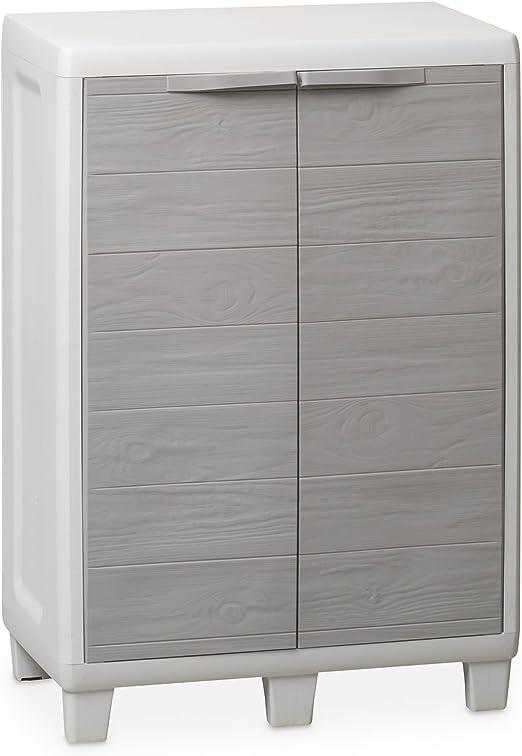 Arredamento para exterior plastmecánica Toomax armario bajo Woody s art.032: Amazon.es: Hogar