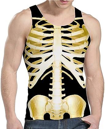 Man Women 3D Bloody Ribs Muscle Print T-shirt Couples Tank Tops Shirt Tee