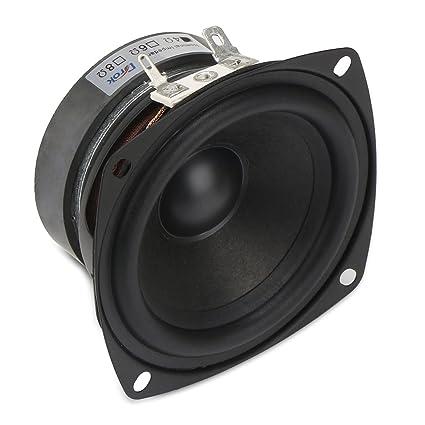 DROK 3 Inch Square 4 HiFi Full Range Speaker 15W Tweeter Speakers 45mm Strong Interference