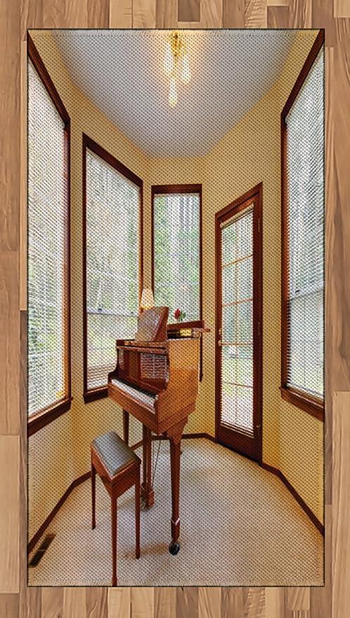 Antique Zone Tapis par Ambesonne rond, pièce avec Piano ...