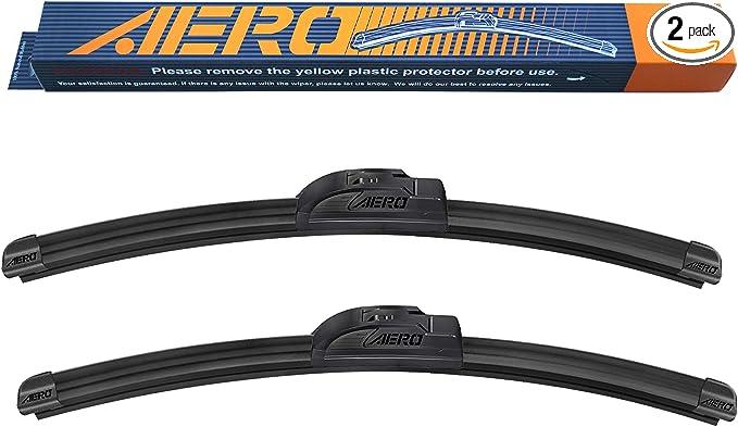 Set of 2 Online Automotive FWBVLAST16 1008 Front Aero//Flat Windscreen Wiper Blades