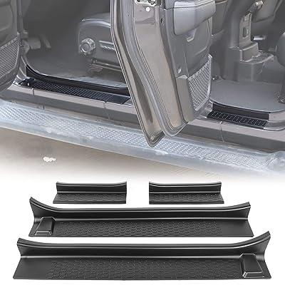 RT-TCZ Door Sill Guards Door Entry Guards for 2020-2020 Jeep Wrangler JL JLU & 2020 Jeep Gladiator JT,Exterior Accessories, Black Entry Guards Black(4-Door): Automotive