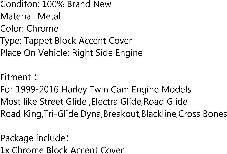 Chrome Topteng Poussoir//Lifter Bloc Accent Couverture pour Har-Ley Twin Cam 02-16 Road King