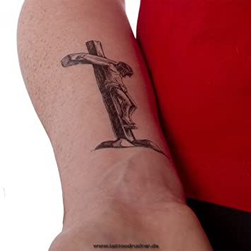 2x Jesus Christ Cross Tattoo Black Cross Tattoo 2 Temporary
