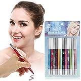 Eyeliner Set, 12 Colores a Prueba de Agua de Larga duración Eye Shadow Eyeliner Lipliner Pencil Cosmetic Pen Makeup Set