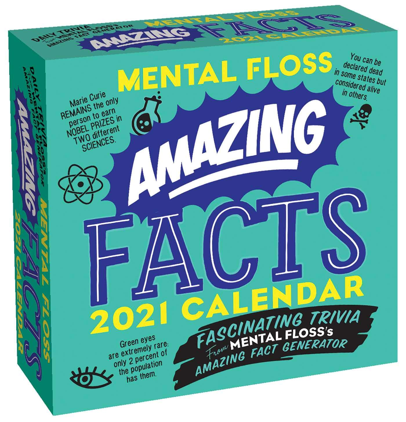 Amazing Calendar 2021 Amazing Facts from Mental Floss 2021 Day to Day Calendar