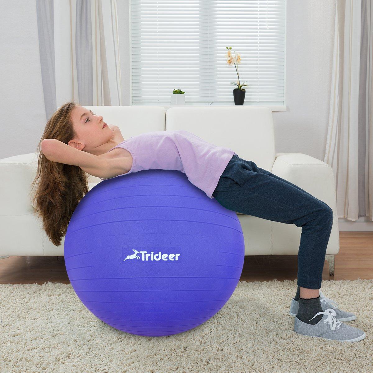 Trideer - Pelota de ejercicio (45-85 cm) extra gruesa de ...