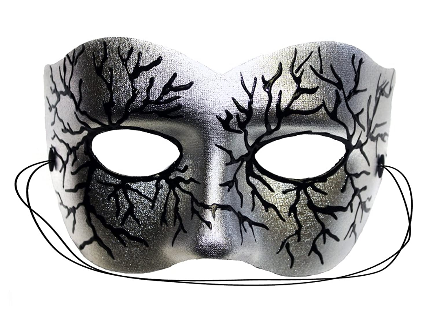amazon com volt silver hand painted masquerade mask clothing