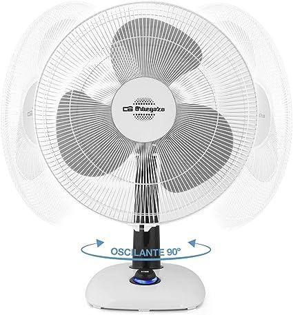 Orbegozo TF 0143 Ventilador De Sobremesa, 50 W, Blanco Y Negro ...