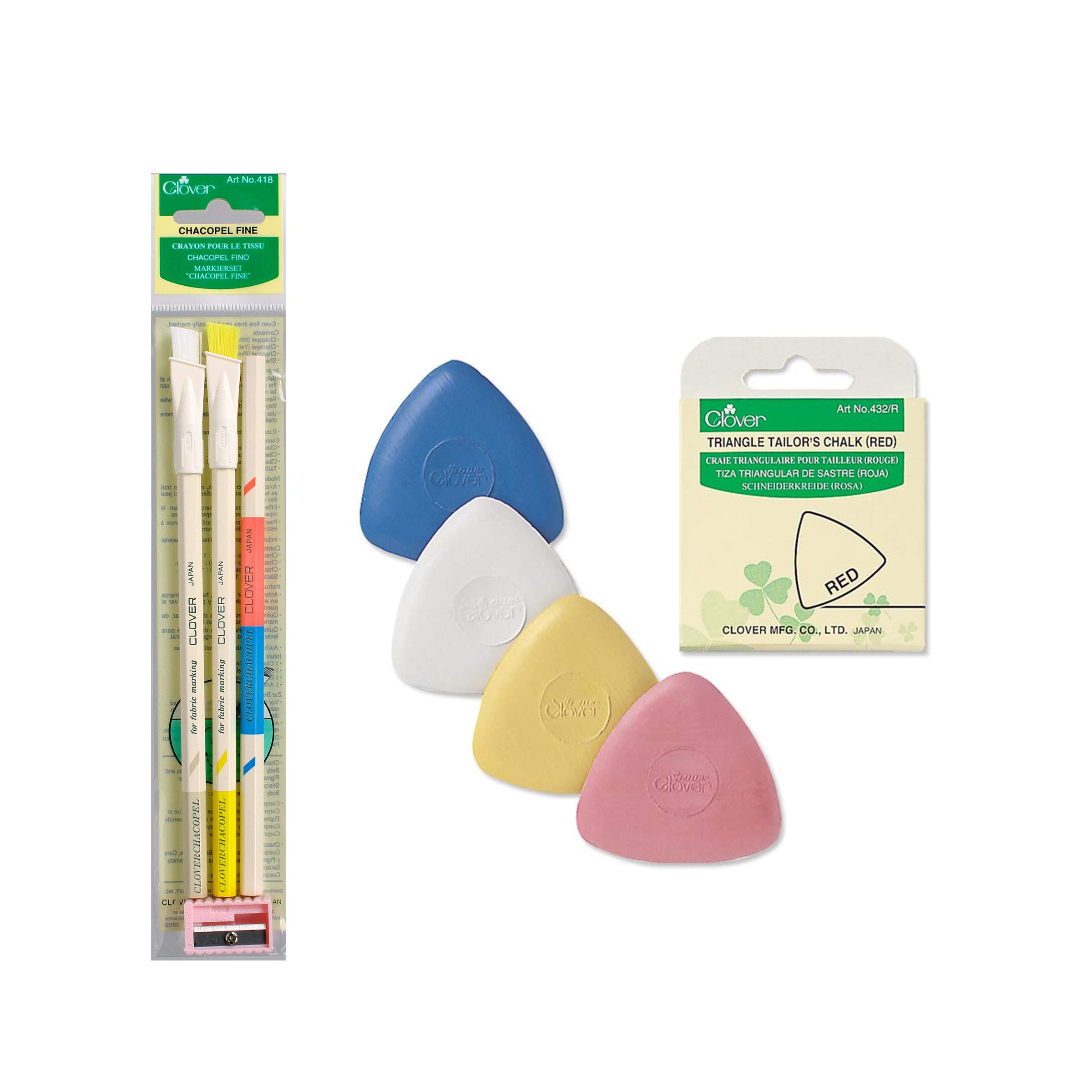Clover E022 Chacopel and Tailors Bundle Chalk, 85, Multiple 6 by CLOVER
