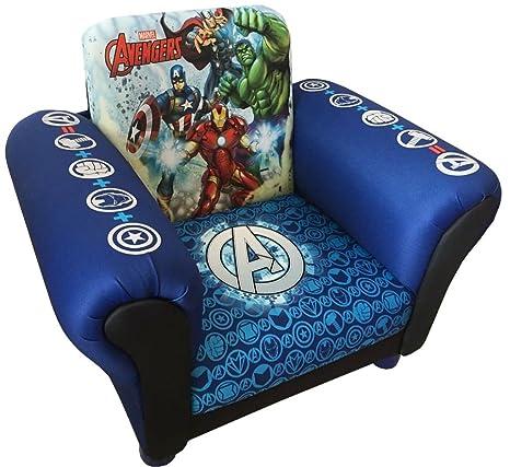 Amazon.com: Sillón tapizado para niños The Avengers Marvel ...