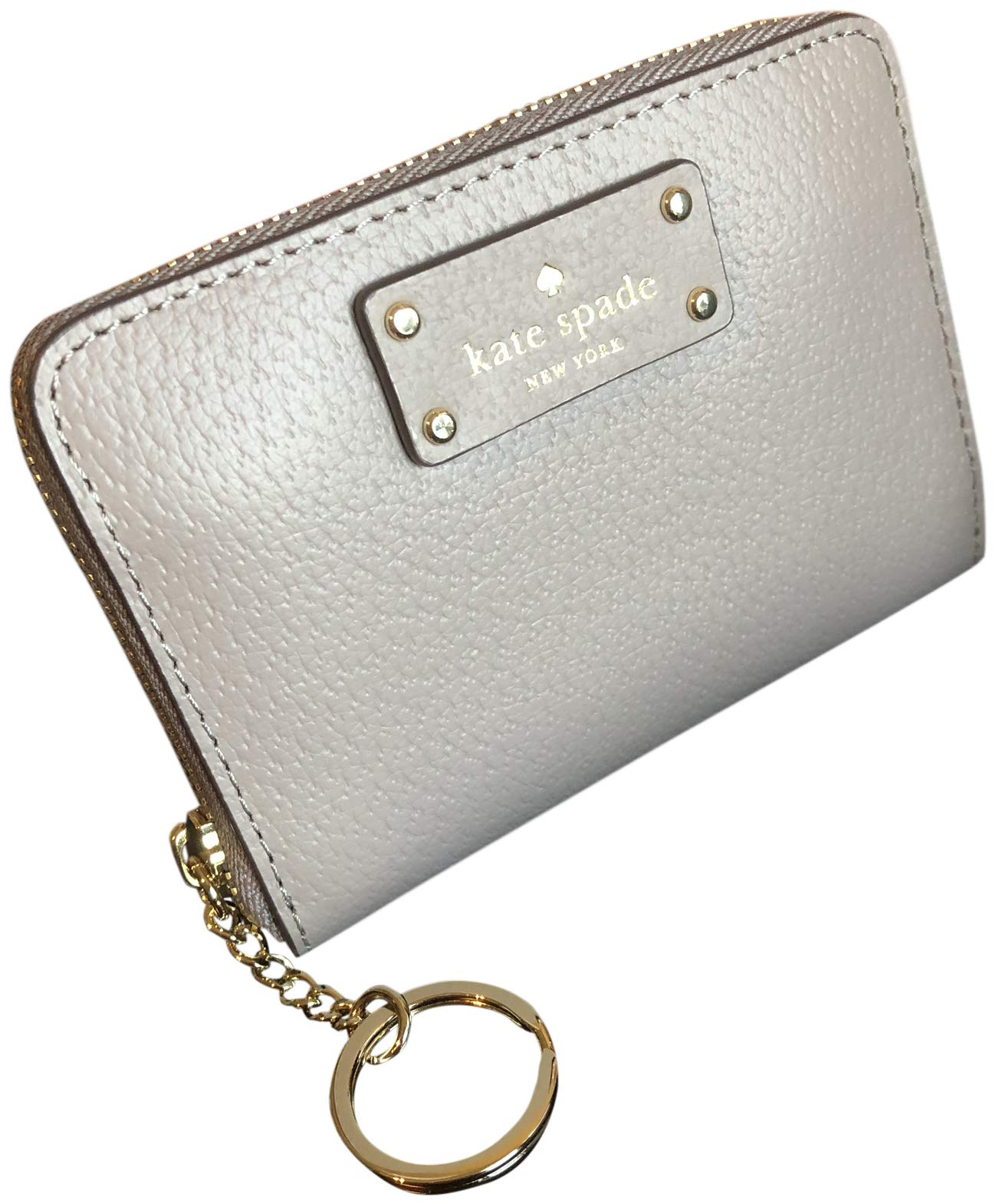 Kate Spade Grove Street Dani Leather Zip Around Wallet Key Chain Ring Cityscape by Kate Spade New York
