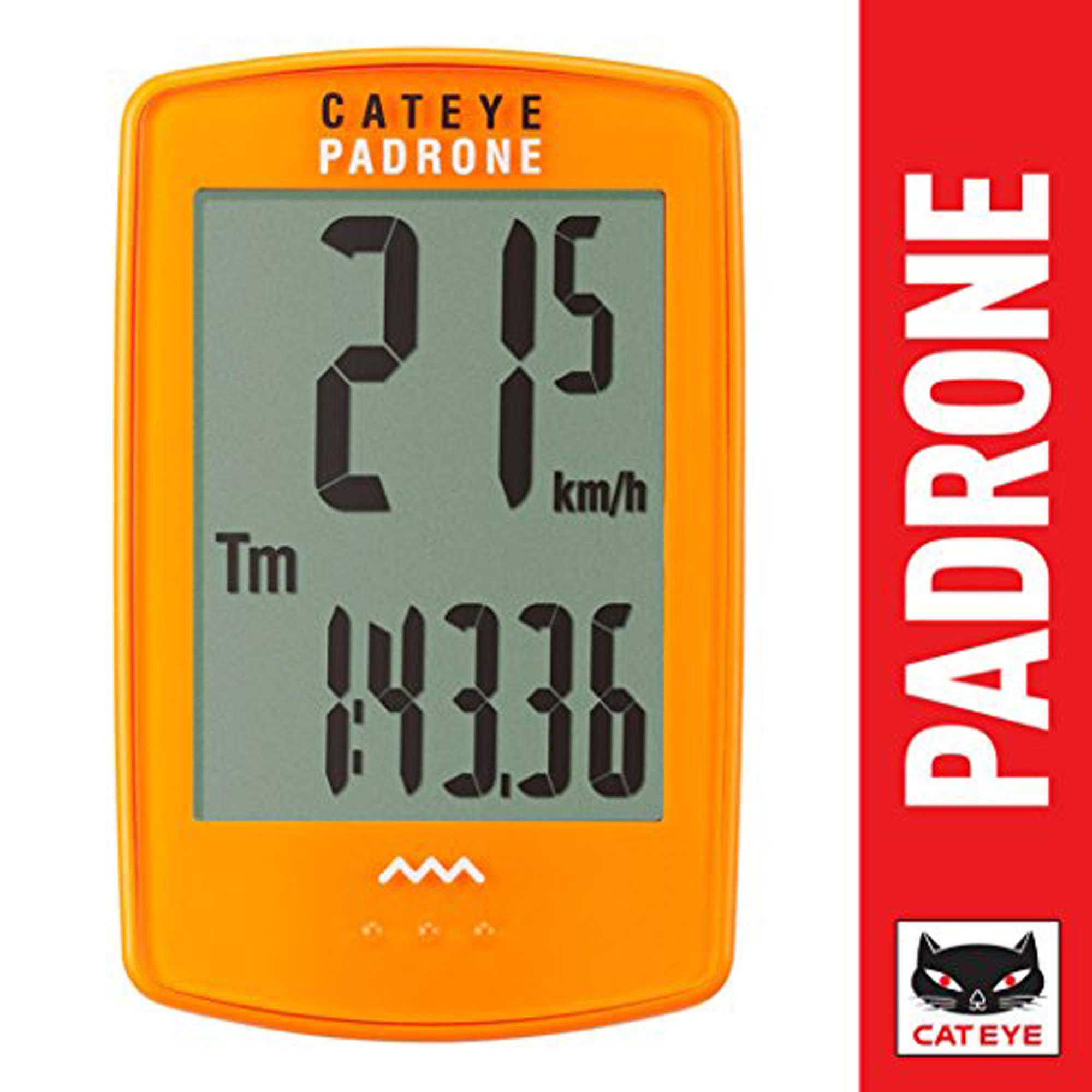 CAT EYE - Padrone Wireless Bike Computer, Orange