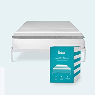 product image for Leesa Cooling Foam Mattress Topper, Superior Quality in a Box, With Washable Cover, Queen Size