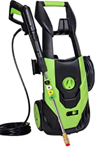 Qualidy Power Washer 4500PSI 3.5GPM, Electric Pressure Washer with 5 Quick-Connect Spray Nozzles to Wash Various Surfaces, Corded Washer