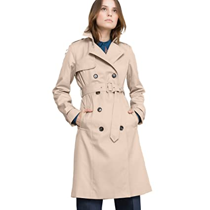 aea5d796c4b2 Amazon.com  La Redoute Collections Womens Cotton Trench Coat Beige Size US  10 - FR 40  Home   Kitchen