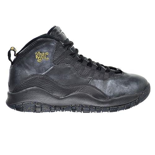 official photos d02f1 b3b56 Jordan Air 10 Retro NYC Men s Shoes Black Dark Grey Metallic Gold 310805-