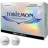 TOBIEMON(トビエモン) ゴルフボール PREMIUM-3 JPLAドラコン公式試合球 プロ仕様 3ピース 1スリーブ(3個入り) T-B3DYS
