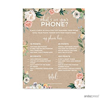 Amazon Andaz Press Peach Kraft Brown Rustic Floral Garden Party Adorable Garden Design Games Collection