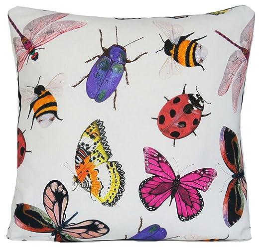 Funda de cojín Bugs insectos de forma natural de mariposa ...