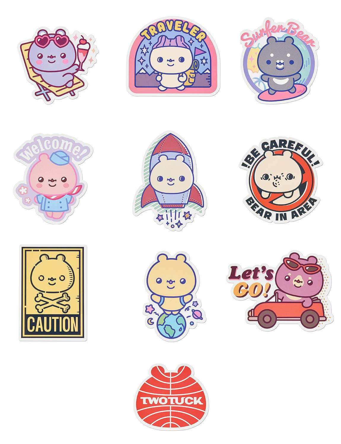 c40571433772 TWOTUCKGOM Collaboration with Monsta X Travel Sticker Pack Blue - TTG Small  Cute TWOTUCKGOM Seriese Decal Stickers for Laptop Water Bottles Computer ...