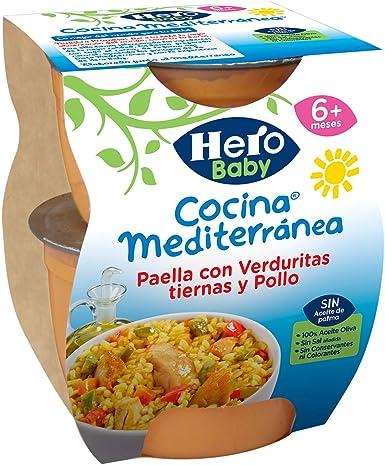 Hero Baby - Cocina Mediterránea Paella Con Verduritas Tiernas Y Pollo: Amazon.es: Alimentación y bebidas