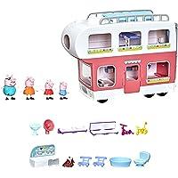 Peppa Pig Peppa's Adventures camper van familie Pig kleuterspeelgoed, ombouwbaar voertuig, speelt geluiden en muziek…