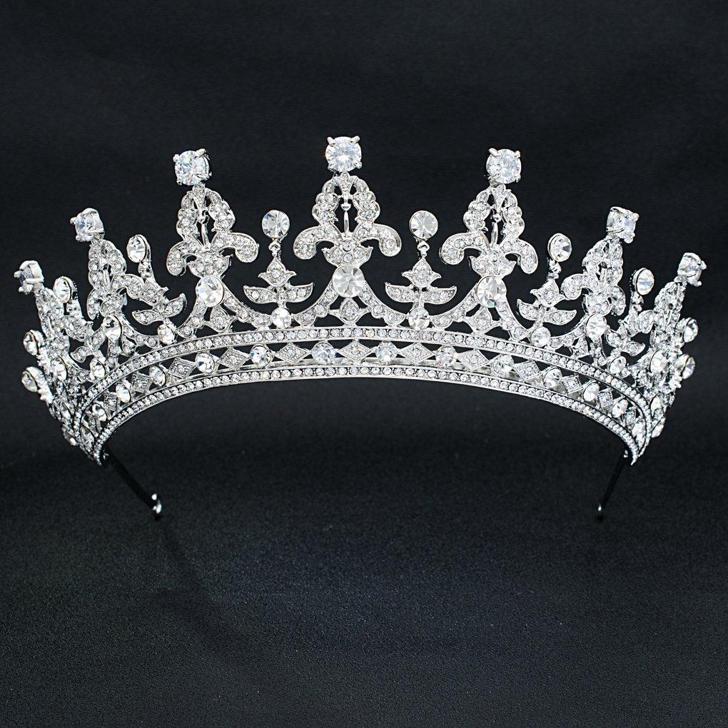 Austrian Crystal Rhinestone Big Wedding Crown Tiara Diadem Hair Jewelry Accessories 05365R by SEPBRIDALS