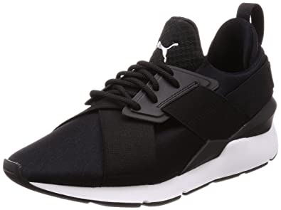 56390e747561 Puma Women s Muse Satin Ep WN s Low-Top Sneakers Black  Amazon.co.uk ...