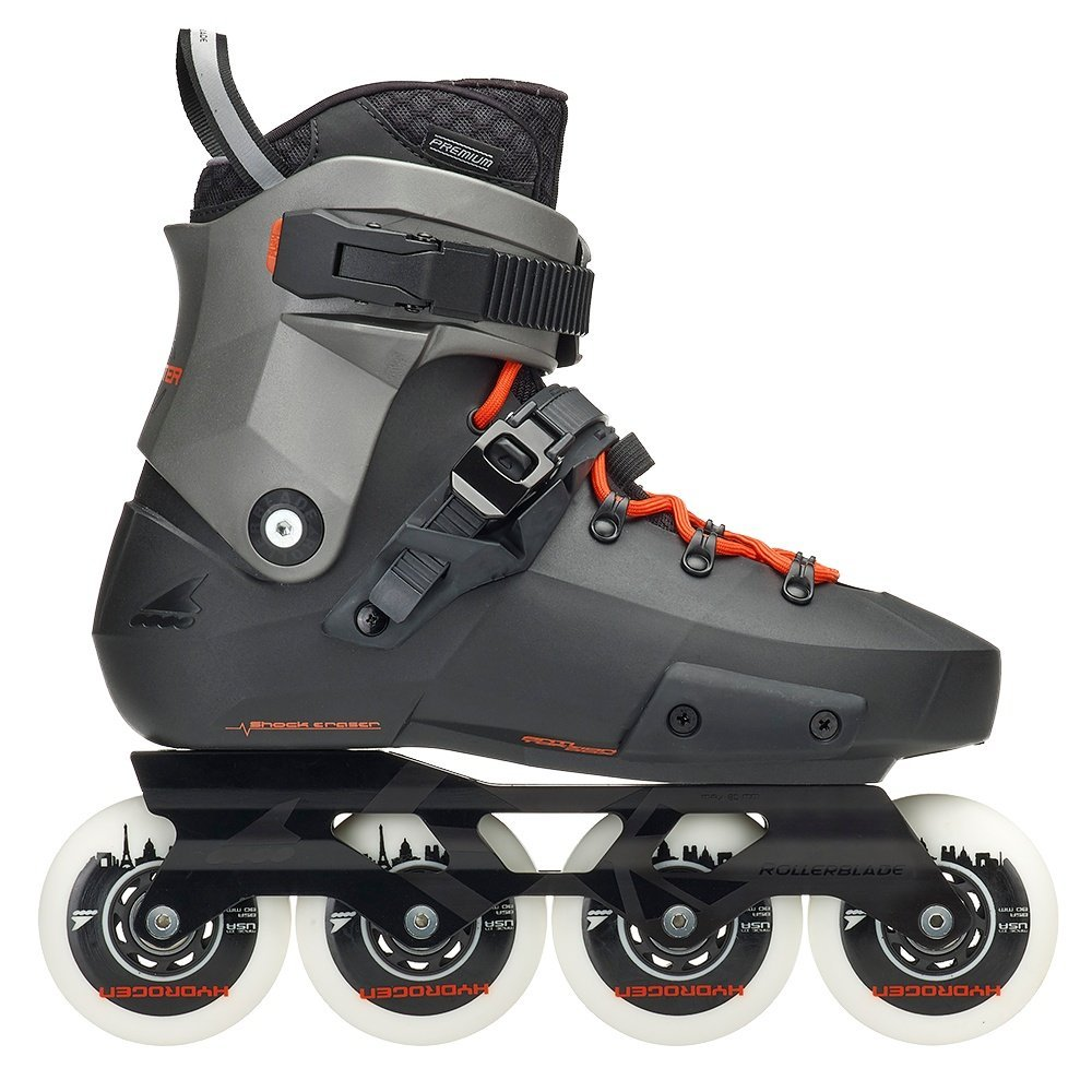 Rollerblade Men's Twister Edge x Fitness Inline Skate, Black/Metallic Grey, Size 10 by Rollerblade