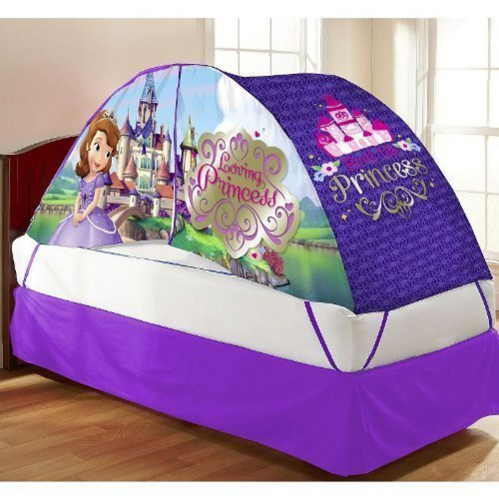 Nice Bed Tents Part - 10: Amazon.com: Disney Sofia The First Bed Tent With Push Light: Toys U0026 Games