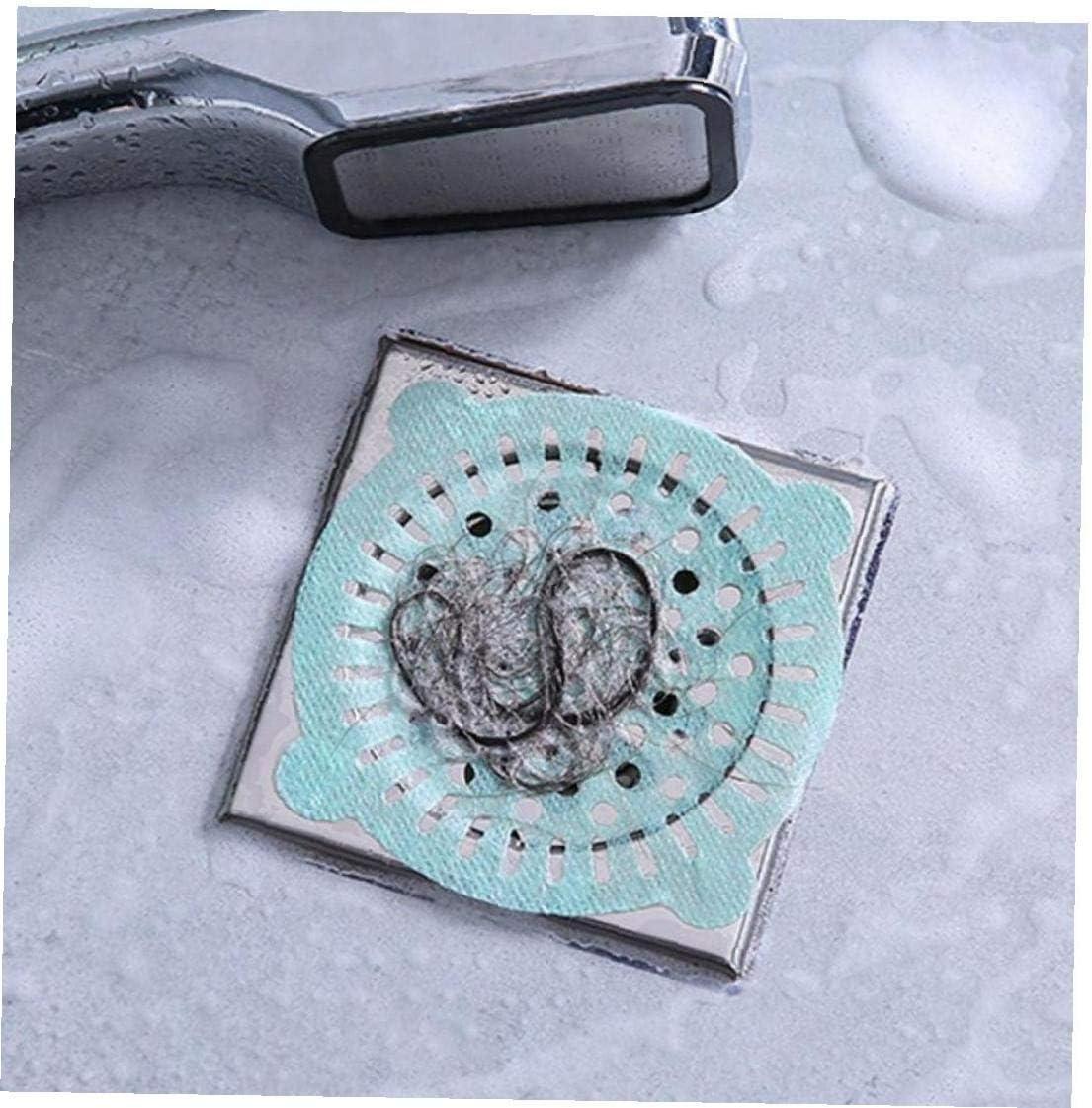 PiniceCore Disposable Hair Catcher Shower Filter Sink Plug Floor Drain Filter Anti-Blocking Bath Cap Bathroom Stopper Drain Plug