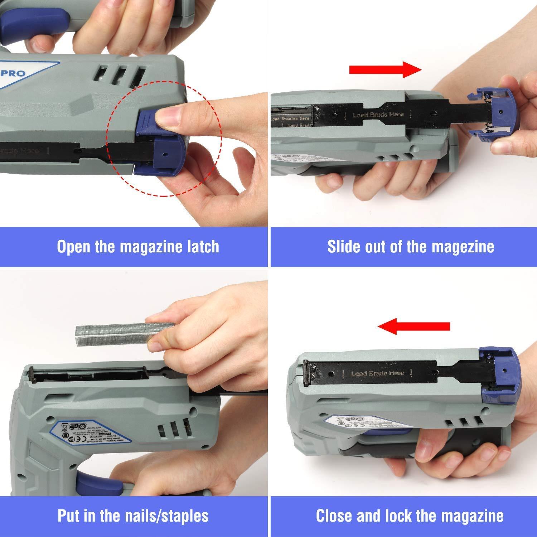 WORKPRO Grapadora y Clavadoras Eléctrica 3.6 V 2 Ah USB Recargable ...