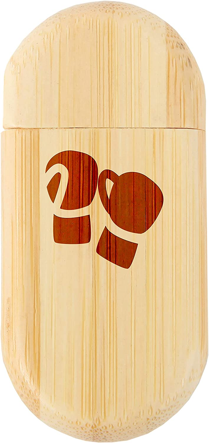Wood Flash Drive with Laser Engraving 8Gb USB Gift for All Occasions Boxing Gloves 8Gb Bamboo USB Flash Drive with Rounded Corners