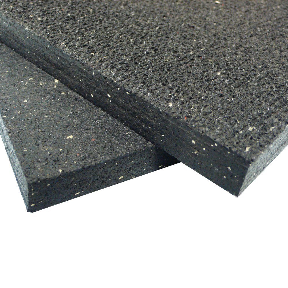 Rubber-Cal ''Shark Tooth'' Heavy-Duty Matting - 3/4-inch Thick Rubber Mats - Black - Made in the USA - 3/4 inch thick x 4ft x 6ft by Rubber-Cal