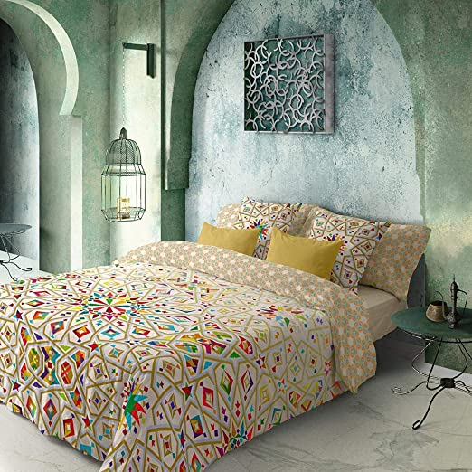 COTTON ARTean Funda Nordica Reversible Marruecos Cama de 135 ALGODÓN 100% Color Degradado.: Amazon.es: Hogar