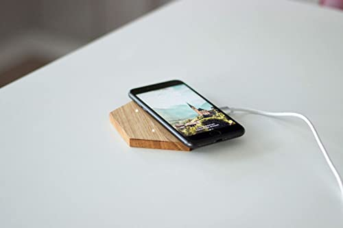 Lay – Qi Ladegerät aus Holz, Fast Wireless Charger