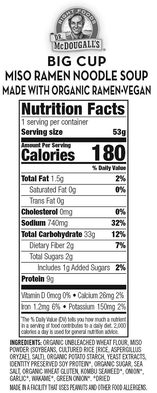 Dr. McDougall s Right Foods Ramen, (Pack de 6): Amazon.com ...