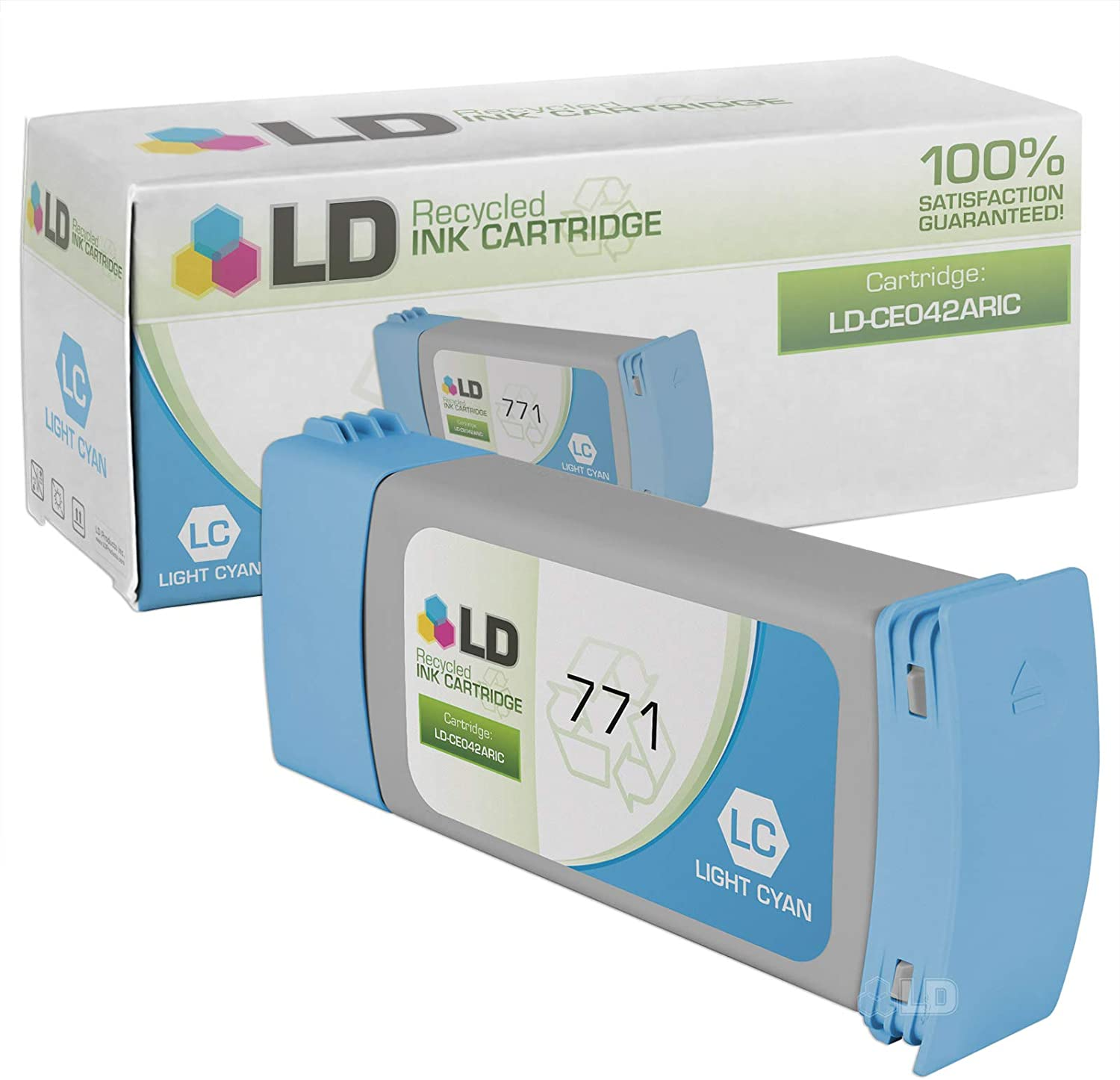 LD Remanufactured Ink Cartridge Replacement for HP 771 CE042A (Light Cyan)