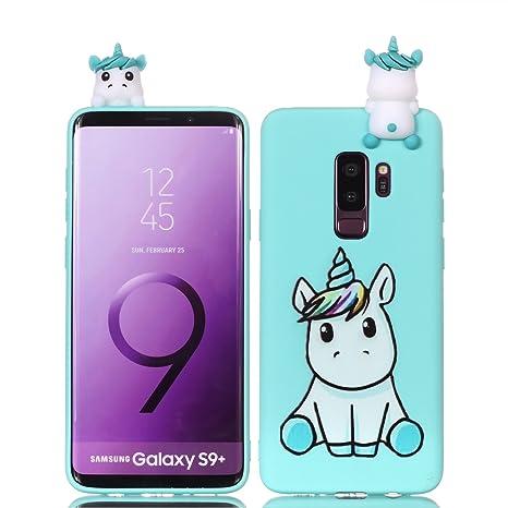 Sunrive Für Samsung Galaxy S9 Hülle Silikon, Handyhülle matt Schutzhülle Etui 3D Case Backcover für Samsung Galaxy S9(L Einho