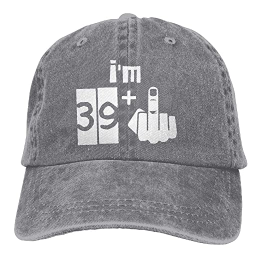 5f351c9cba6 Mens Womens Baseball Cap Hat I m 39 Plus 1 40th Birthday Cotton Jean Trucker