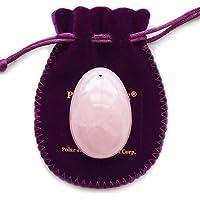 ioni Huevo de piedra cuarzo rosa, orificio