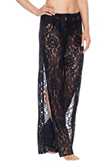 35955c797c3d6 Becca by Rebecca Virtue Women's Poetic Lace Side Slit Pants Swim Cover Up